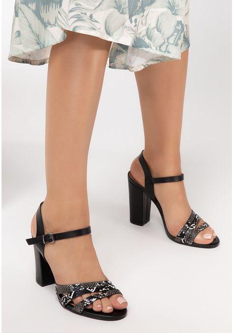 Sandale cu toc Joline Negre